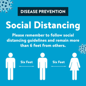 Reminder to follow social distancing guidelines