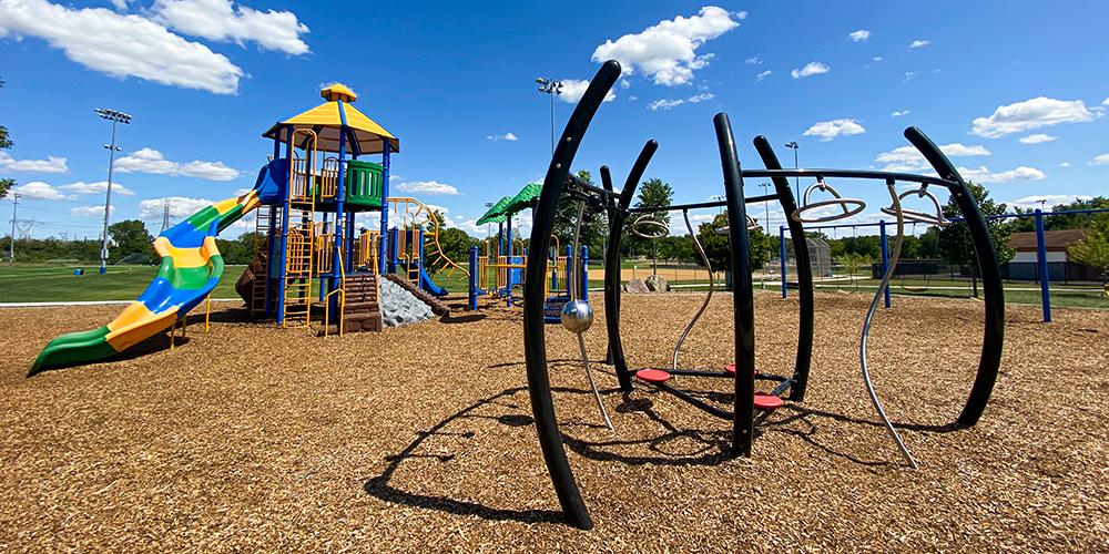 Playground equipment at Ackerman Park